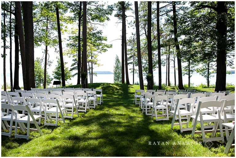 Peninsula Room Wedding On The Front Lawn Overlooking Lake Michigan