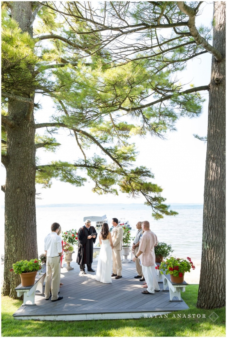 Wedding At Torch Lake Beautiful Location For In Michigan