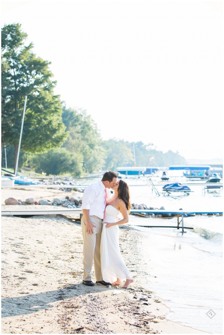 Lovely Photo Of Bride And Groom On The S Torch Lake